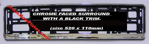 Chrome Faced Number Plate Frame (s)