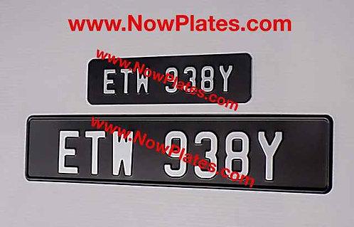 Vintage Black Pressed Plates Small Front + Oblong D491
