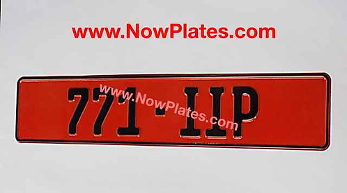 1 Only Retro German FE Font Pressed Oblong Plate