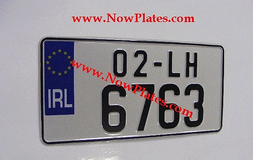 1 Only Jap Pressed Plate With 2 Size No's 12 x 6ins (JR1)