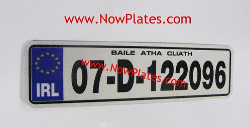 IRL Flat Metal Motorcycle Plate with a Size Choice