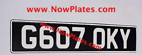 1 Only Vintage Black with a Colour Choice Pressed Plate (VW1)