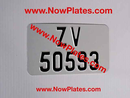 """Pressed Motorcycle Plate with a Colour Choice 7"""" x 4""""in"""
