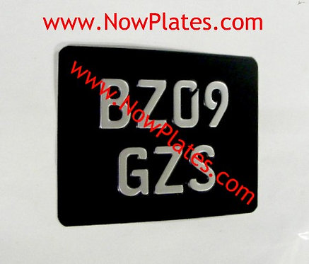 German FE Pressed Motorcycle Plate with a Size and Colour Choice (Z2)