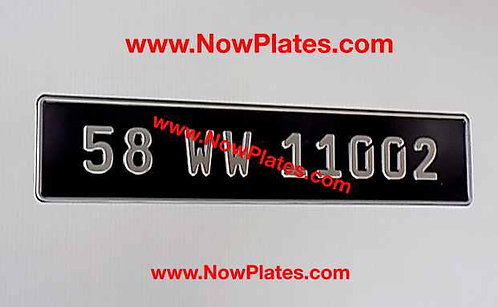 1 Only German Pressed Plate with Small No's with a Size and Colour Choic
