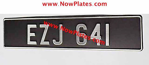 1 Only Brushed Chrome Oblong Plate with  70mm No's (BC70)