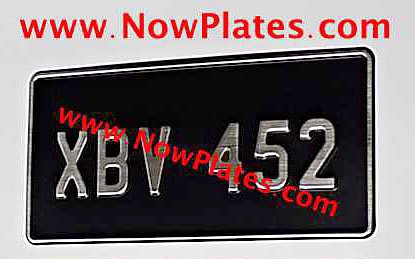 "1 Only Brushed Chrome Pressed Plate 1 Row 12"" x 6""ins Medium No's"