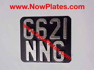 "Vintage Motorcycle Pressed Plate with a Colour Choice 6""ins x 5""ins"