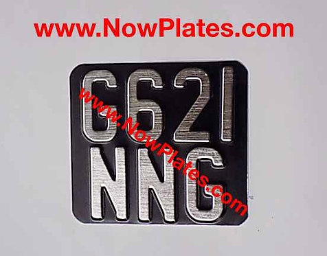 "Pressed Motorcycle Plate Medium No's with a Colour Choice 6""ins x 5""ins Z2"