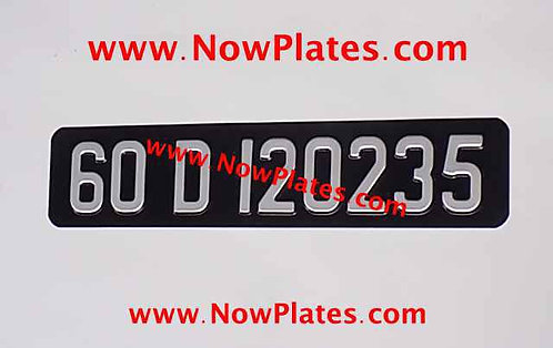 Small Front Plate Medium No's with a Font, Size and Colour Choice (MH09)