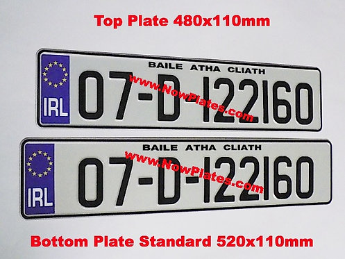 Small Front Plate with a Flag and Size Choice (RA2)