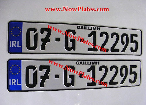 German Continental 7,Closed Zero & 9 pressed Number Plates with a Flag Choice