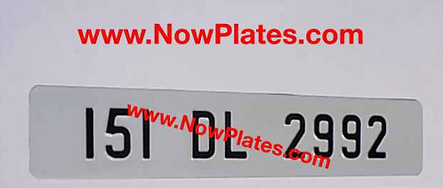 1 of Plain Pressed Oblong Pressed Plate with medium size No's NO Border (6