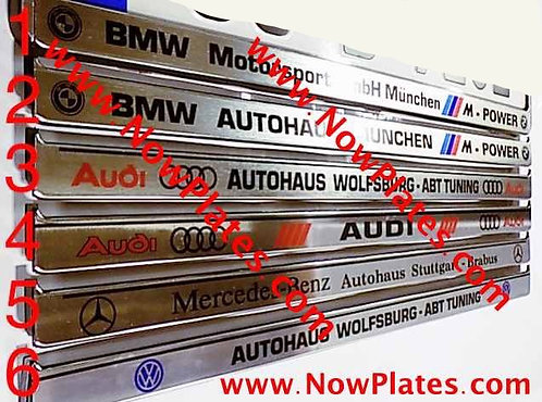 Custom Brushed Chrome Number Plate Frame (s)