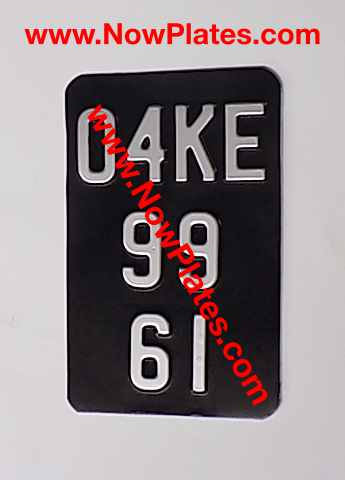 3 Line Metal Pressed Motorcycle Plate with size and colour choice
