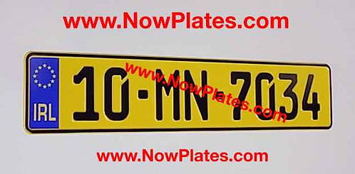 1 Only German Oblong pressed Plate with a Flag and Colour Choice