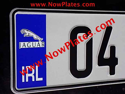 Pair of German pressed Number Plates with Logo's
