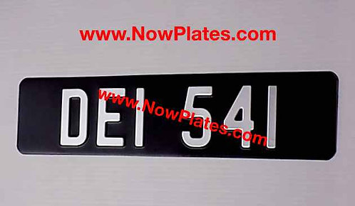 Small Front Plate  with 70mm No's  and Colour Choice (ZW09)