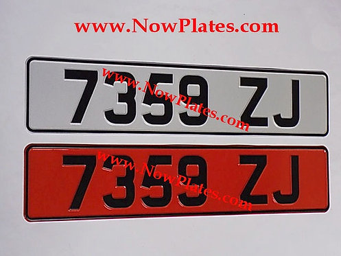 Retro Red and White Pressed Plates (LF)