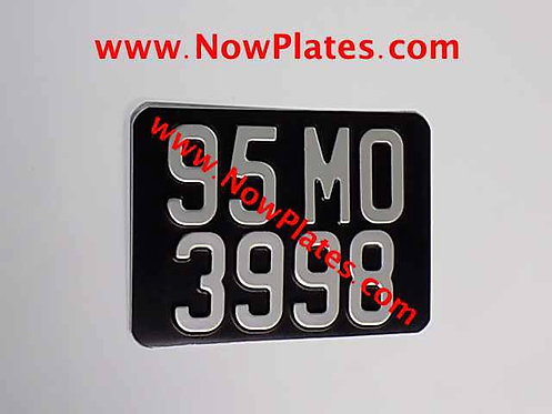 "Pressed Motorcycle Plate Medium No's 7"" x 5""ins with a Colour Choice."