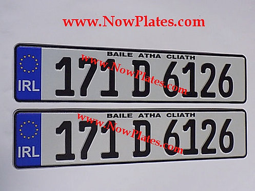 Pair of German pressed Number Plates with a Flag Choice