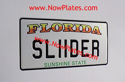 Pair of FLORIDA pressed Plates Medium No's  300x150mm