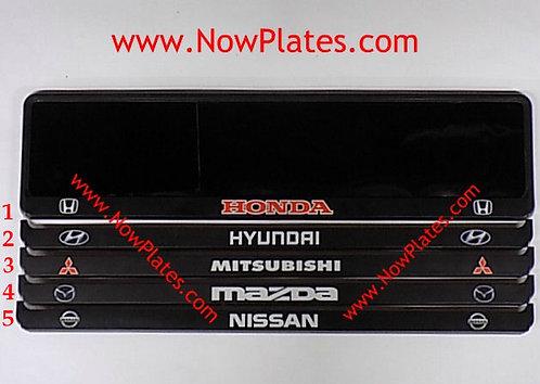 Custom Black Number Plate Frame (s)  F02
