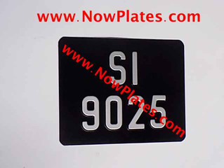 Custom made Motorcycle ZV Vintage Pressed Number Plates are available from our web shop at www.NowPl