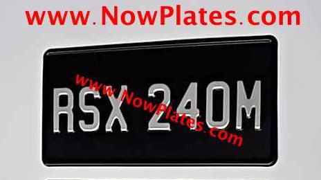 "1 Only Pressed Plate 1 row 12"" x 6""ins or Oblong a Digit Size and Colour Choic"