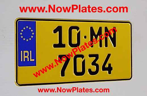 1 Only German 300x150mm pressed Plate with a Flag and  Colour Choice