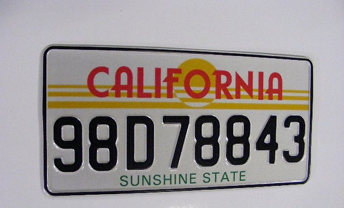 Pair of CALIFORNIA pressed Plates Medium No's  300x150mm