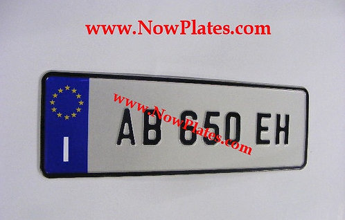 Italian pressed Plate Small Front 480x110mm ( ITSM48I)