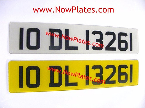 Pair of Retro Acrylic Plates Large Font with a colour choice X08