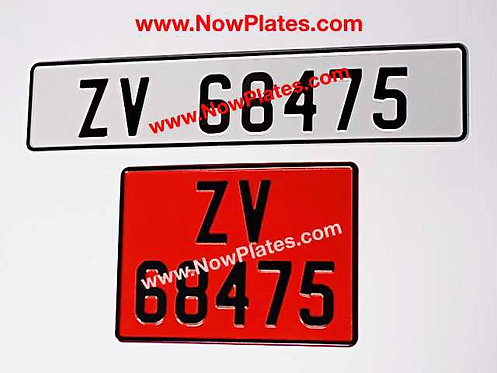 Retro Pressed Plates x2 with a Size and Colour Choice (P6)