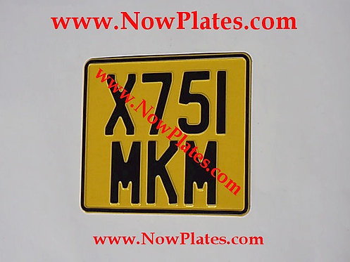 Pressed Motorcycle Plate with Border Large No's with a Colour Choice 200x180mm