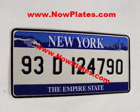 1 Only NEW YORK pressed Plate Square with Small No's 300x150mm