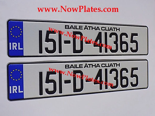 Pair of NCT Legal IRL Pressed Number Plates