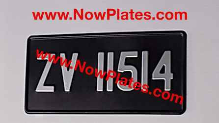 "Only Pressed Plate 1 row 12"" x 6""ins with a Digit Size and Colour Choi"