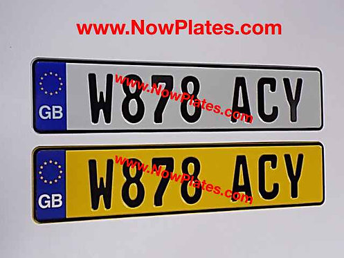 Choice of Euro Flag German White and Yellow Pressed Plates x2
