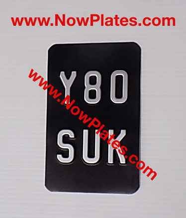 2 Line Metal Motorcycle Plate with size and colour choice