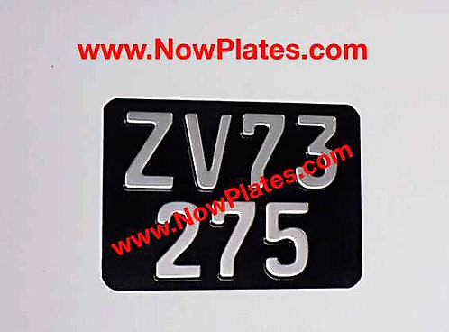 Pressed Motorcycle Plate  German FE Font with a Colour Choice 7x5ins