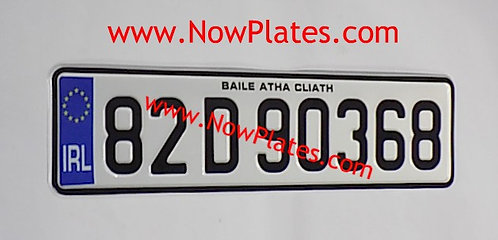 """IRL Pressed Plate Small Front 13"""" 1/2ins x 3"""" 1/2ins  (G30)"""