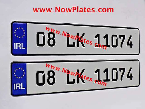 Pair of IRL German pressed Plates with Small FE Font