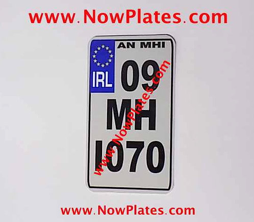 """coIRL Flat Metal Motorcycle Plate 4"""" x 7""""ins"""