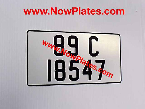 1 Only Large Plain Pressed Plate Square with a Colour Choice 345x180mm