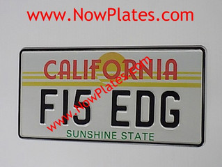 American California Number Plates are available from our web shop.