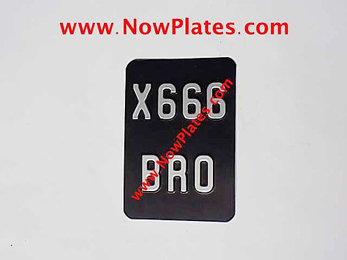 "Pressed Motorcycle Plate 4"" x 7""ins and 5"" x 6""ins (P62)"