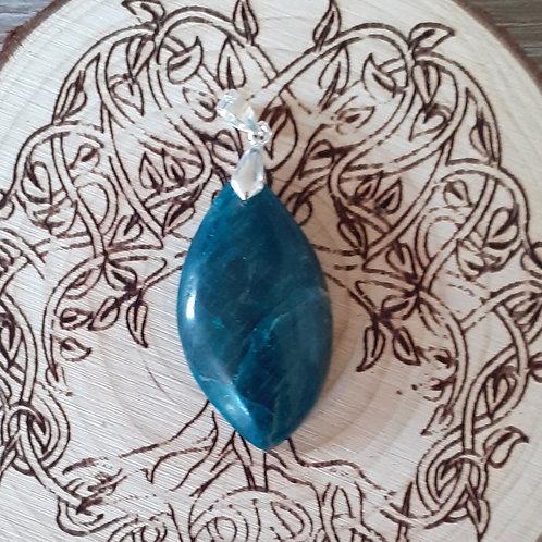 Apatite bleue, pendentif