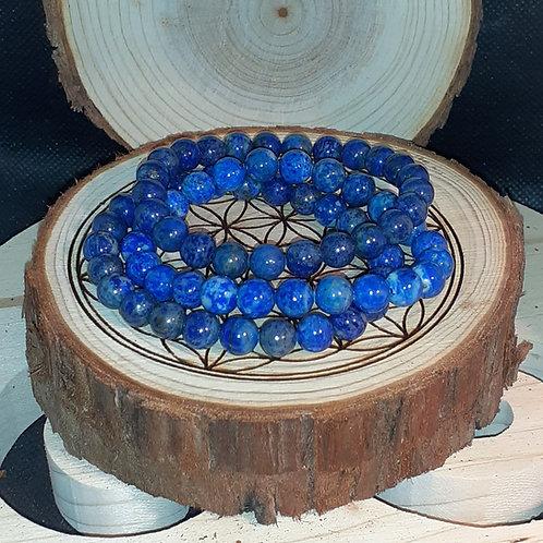 Lapis lazuli, bracelet perles 8 mm