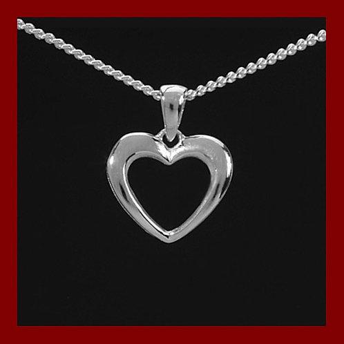 Pendentif coeur en argent 925°/°° rhodier